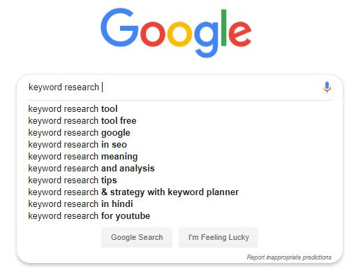Google Autosuggest keyword tool