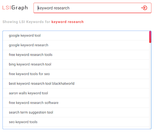 LSI Keywords from LSIGraph